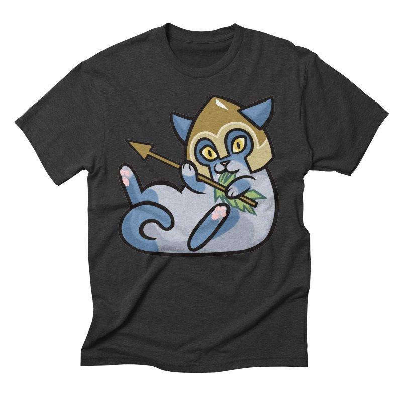Arrow Cat Men's Triblend T-Shirt by mirana's Artist Shop