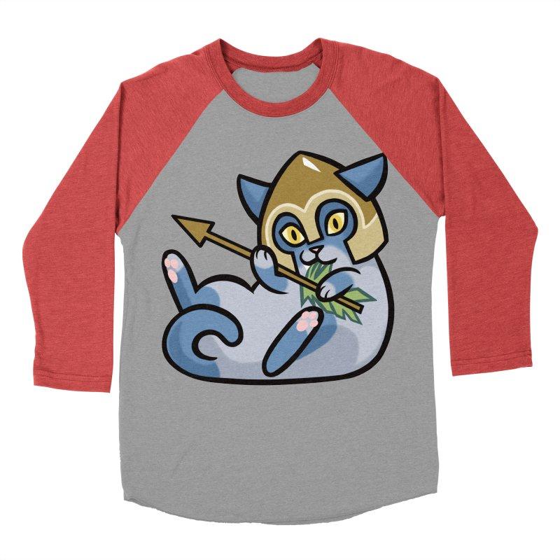Arrow Cat Men's Baseball Triblend Longsleeve T-Shirt by mirana's Artist Shop
