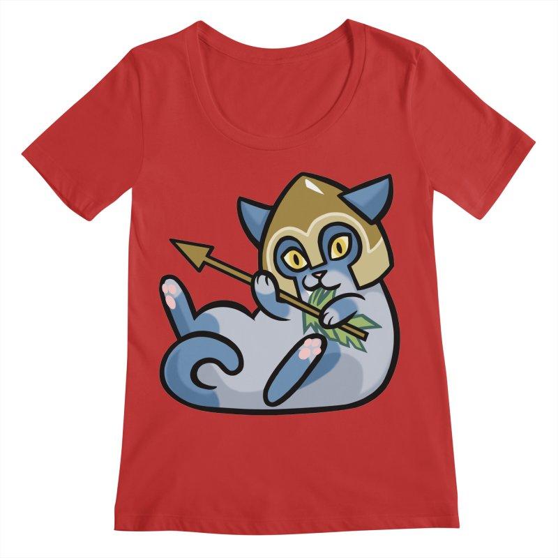 Arrow Cat Women's Regular Scoop Neck by mirana's Artist Shop