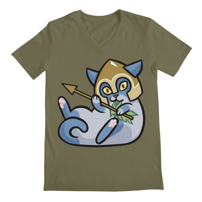 Arrow Cat Men's Regular V-Neck by mirana's Artist Shop