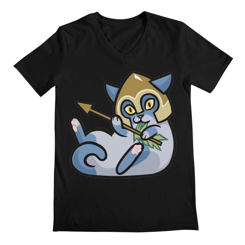 Arrow Cat Men's Regular V-Neck by mirana's Artist Shop