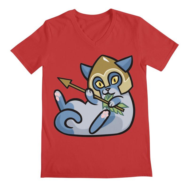 Arrow Cat Men's V-Neck by mirana's Artist Shop