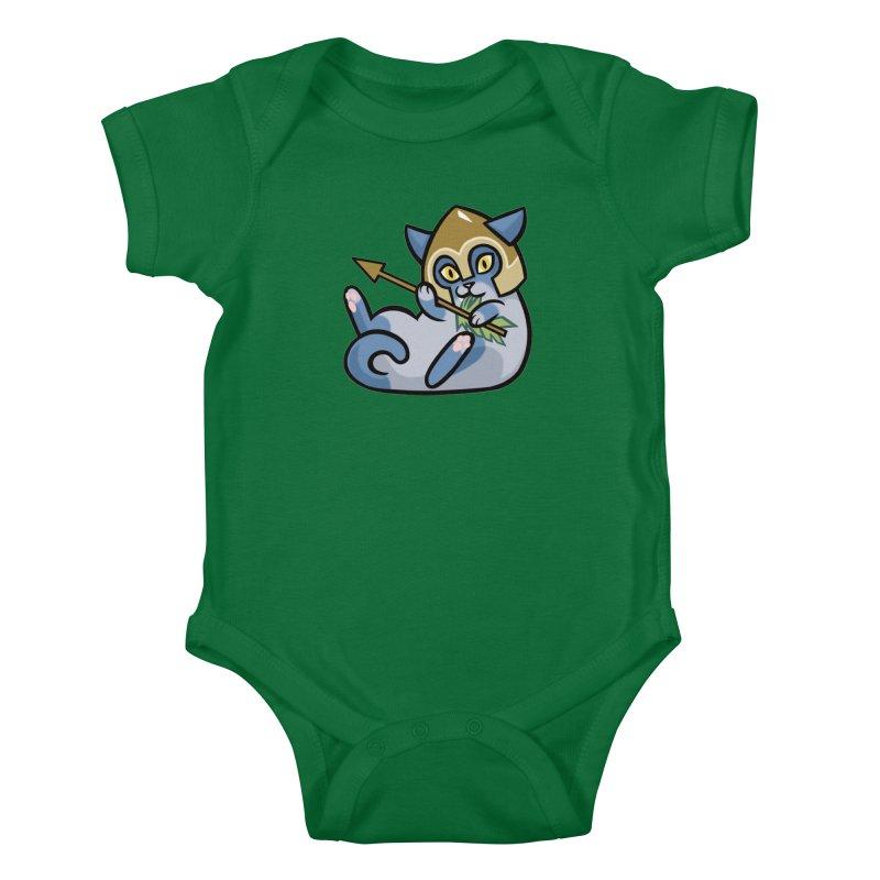Arrow Cat Kids Baby Bodysuit by The Art of Mirana Reveier