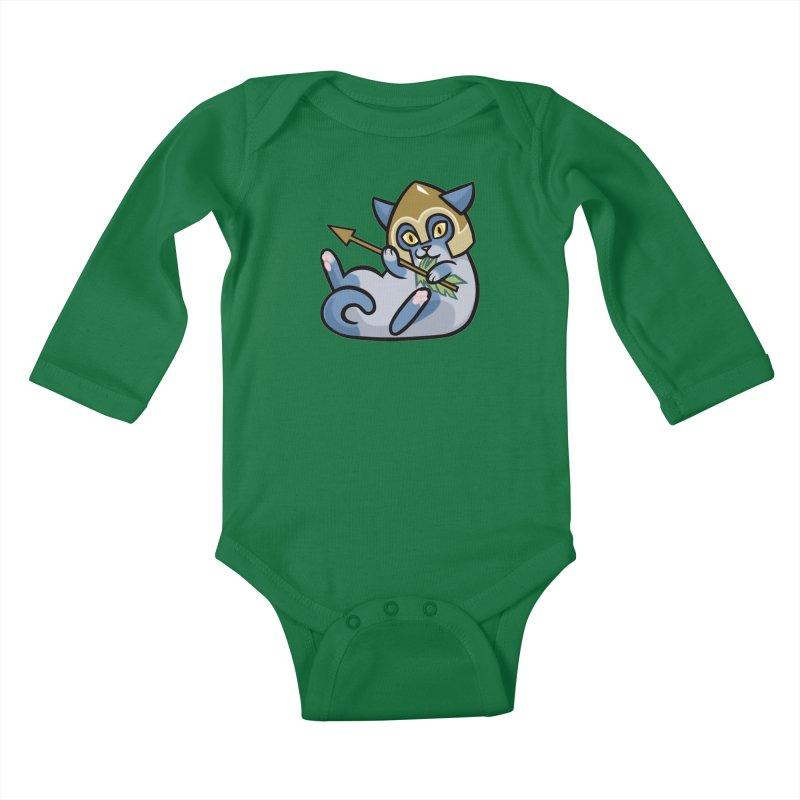Arrow Cat Kids Baby Longsleeve Bodysuit by mirana's Artist Shop