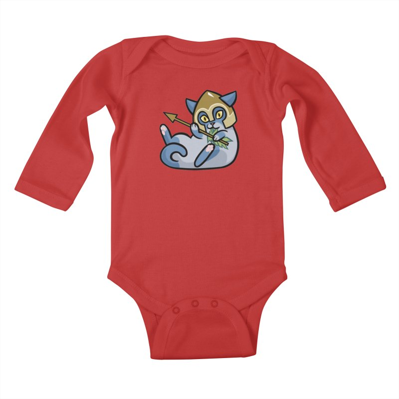 Arrow Cat Kids Baby Longsleeve Bodysuit by mirana's Artist Shop