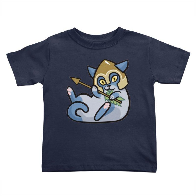Arrow Cat Kids Toddler T-Shirt by mirana's Artist Shop