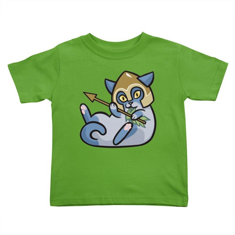 Arrow Cat Kids Toddler T-Shirt by The Art of Mirana Reveier