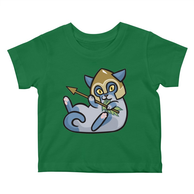 Arrow Cat Kids Baby T-Shirt by The Art of Mirana Reveier