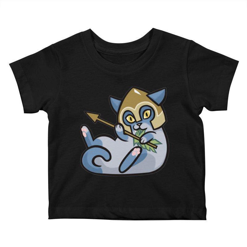 Arrow Cat Kids Baby T-Shirt by mirana's Artist Shop