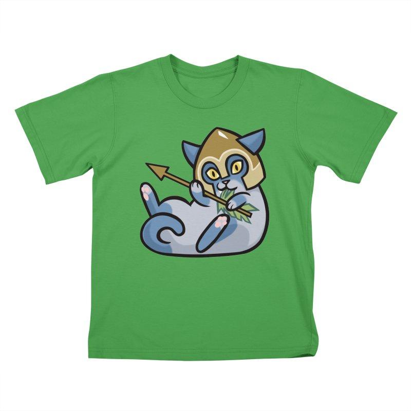 Arrow Cat Kids T-Shirt by The Art of Mirana Reveier