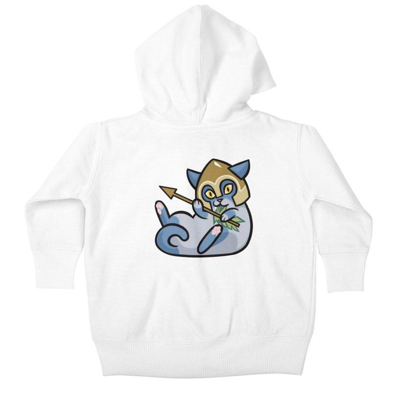 Arrow Cat Kids Baby Zip-Up Hoody by mirana's Artist Shop