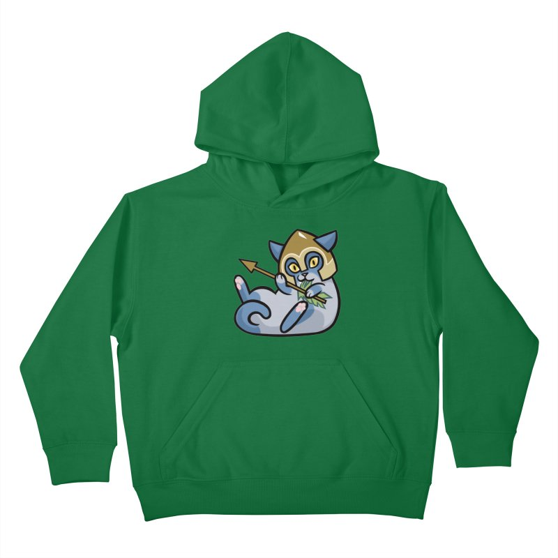 Arrow Cat Kids Pullover Hoody by mirana's Artist Shop