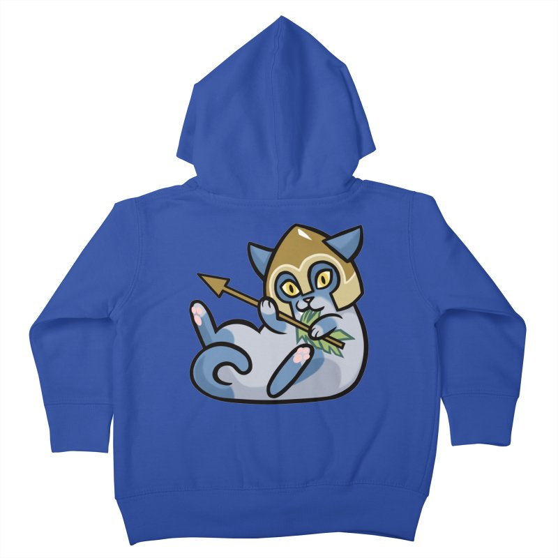 Arrow Cat Kids Toddler Zip-Up Hoody by mirana's Artist Shop