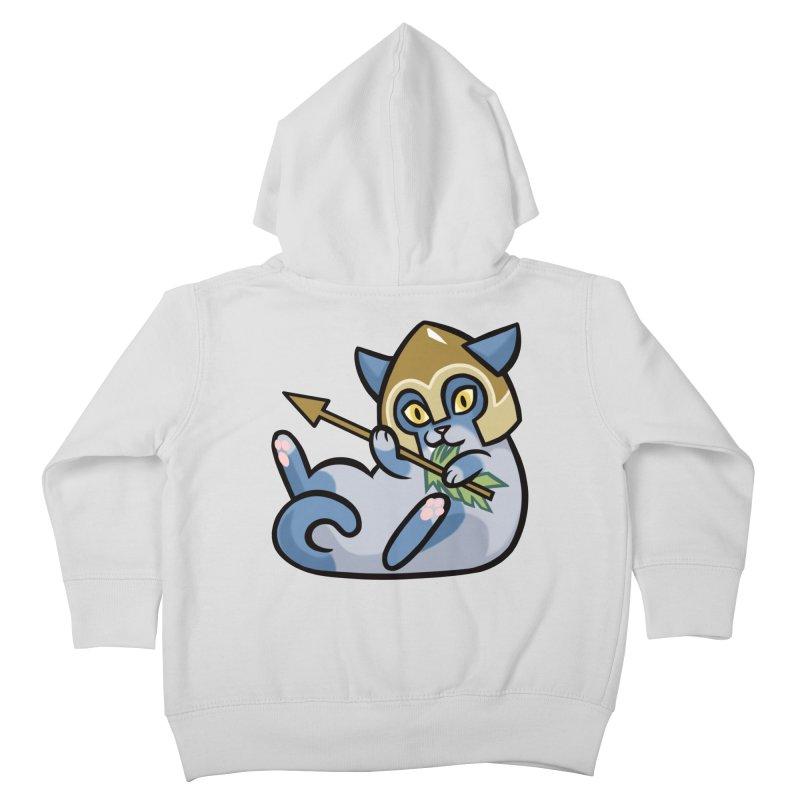 Arrow Cat Kids Toddler Zip-Up Hoody by mirana's Artist Shop