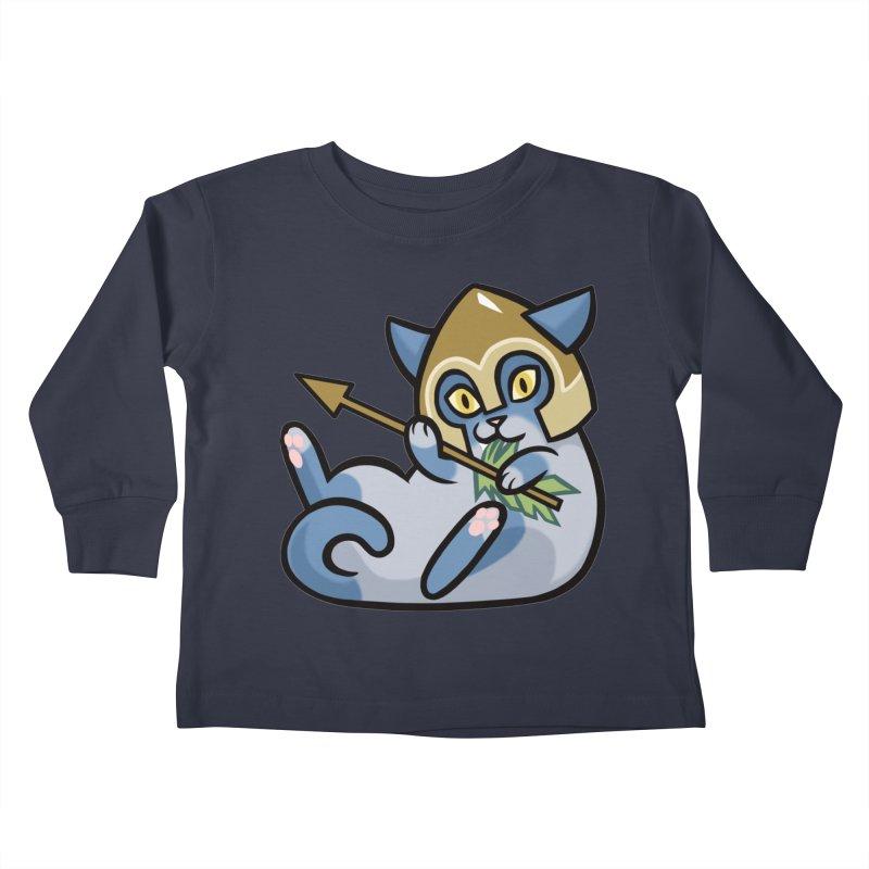 Arrow Cat Kids Toddler Longsleeve T-Shirt by mirana's Artist Shop