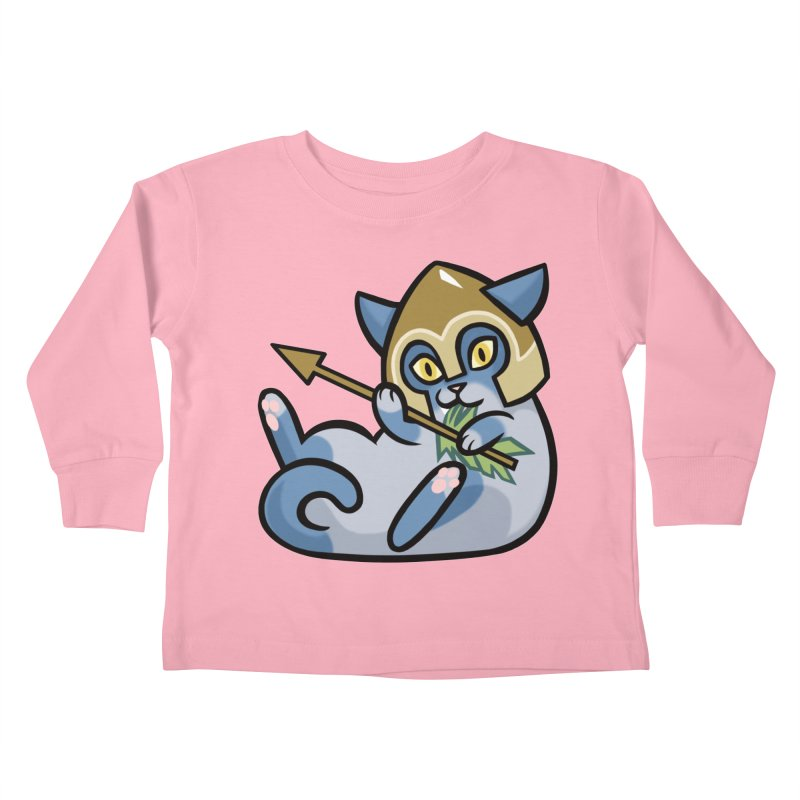 Arrow Cat Kids Toddler Longsleeve T-Shirt by mirana's Artist Shop