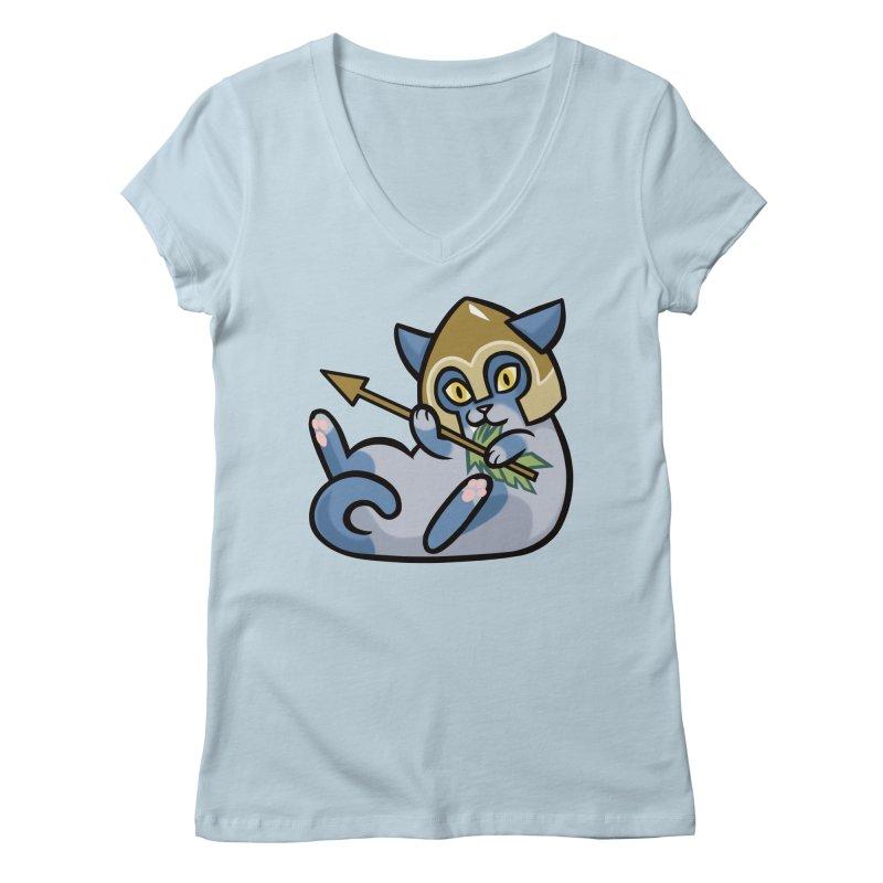 Arrow Cat Women's V-Neck by mirana's Artist Shop