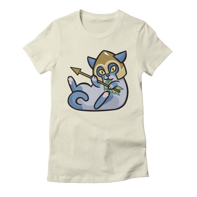 Arrow Cat Women's Fitted T-Shirt by mirana's Artist Shop
