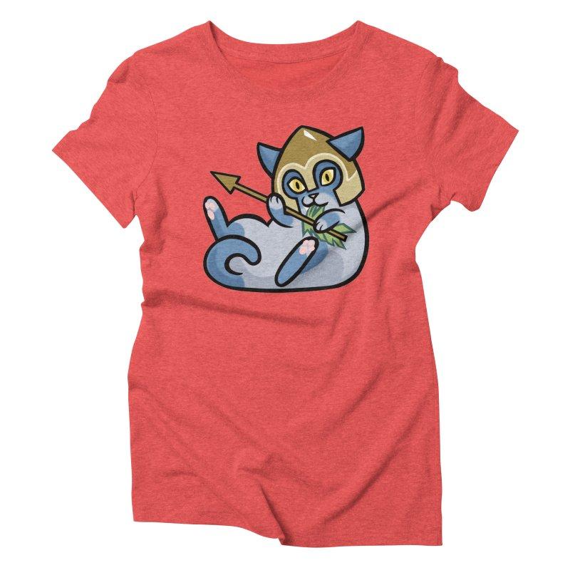 Arrow Cat Women's Triblend T-Shirt by mirana's Artist Shop