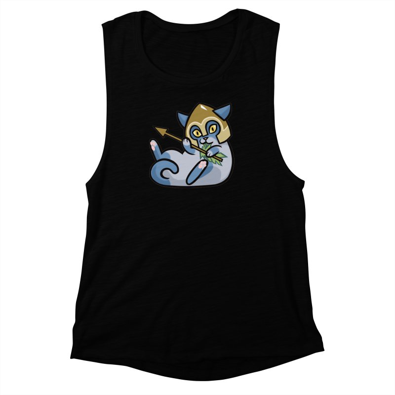 Arrow Cat Women's Muscle Tank by mirana's Artist Shop