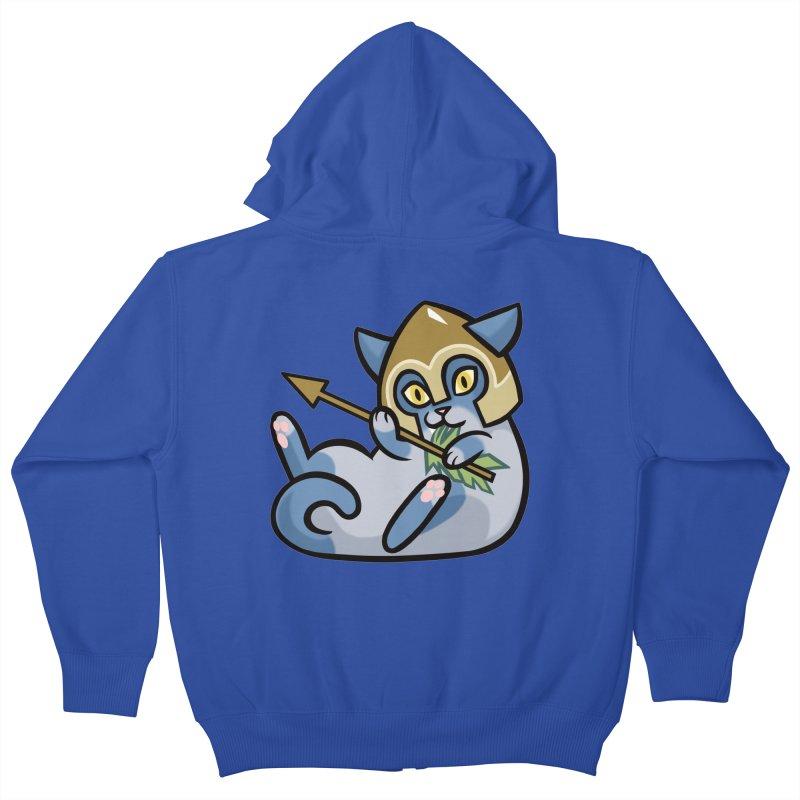 Arrow Cat Kids Zip-Up Hoody by mirana's Artist Shop