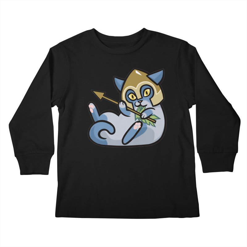 Arrow Cat Kids Longsleeve T-Shirt by mirana's Artist Shop