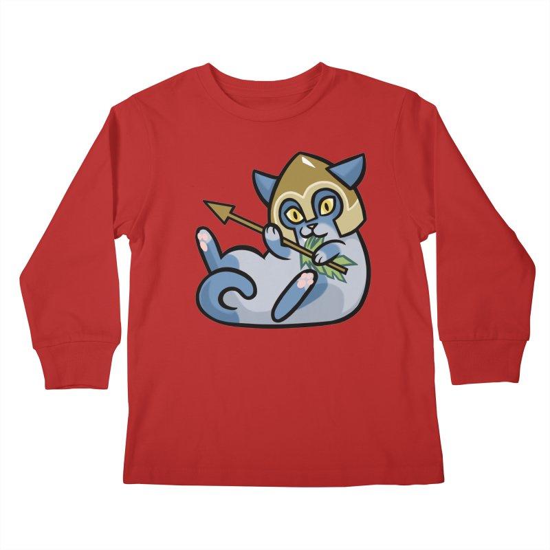 Arrow Cat Kids Longsleeve T-Shirt by mirana's Artist Shop