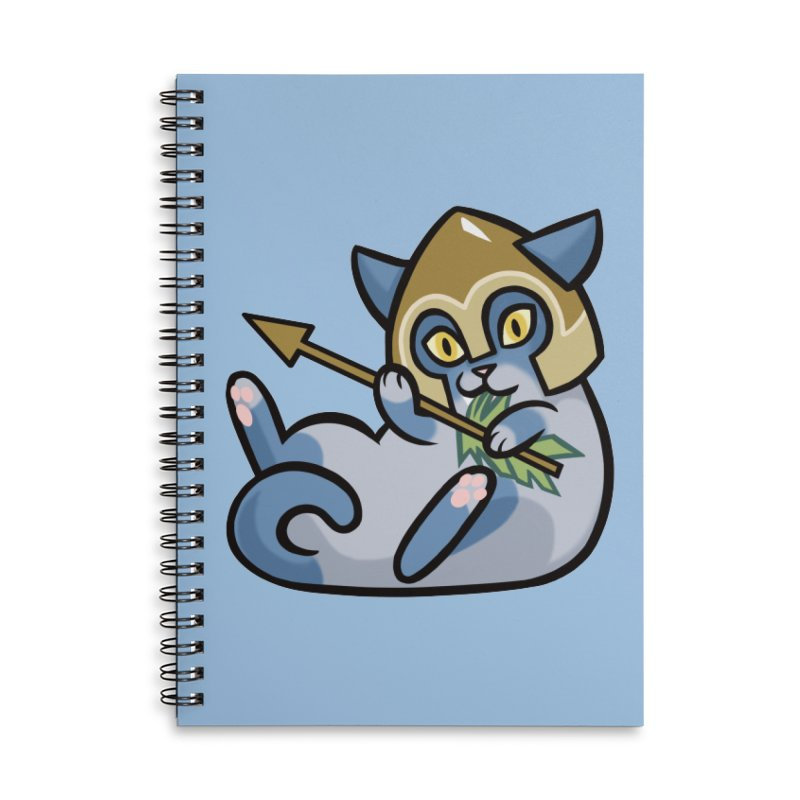 Arrow Cat Accessories Lined Spiral Notebook by mirana's Artist Shop