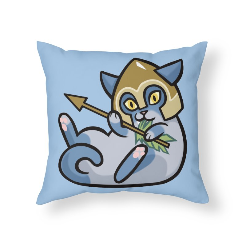 Arrow Cat Home Throw Pillow by mirana's Artist Shop