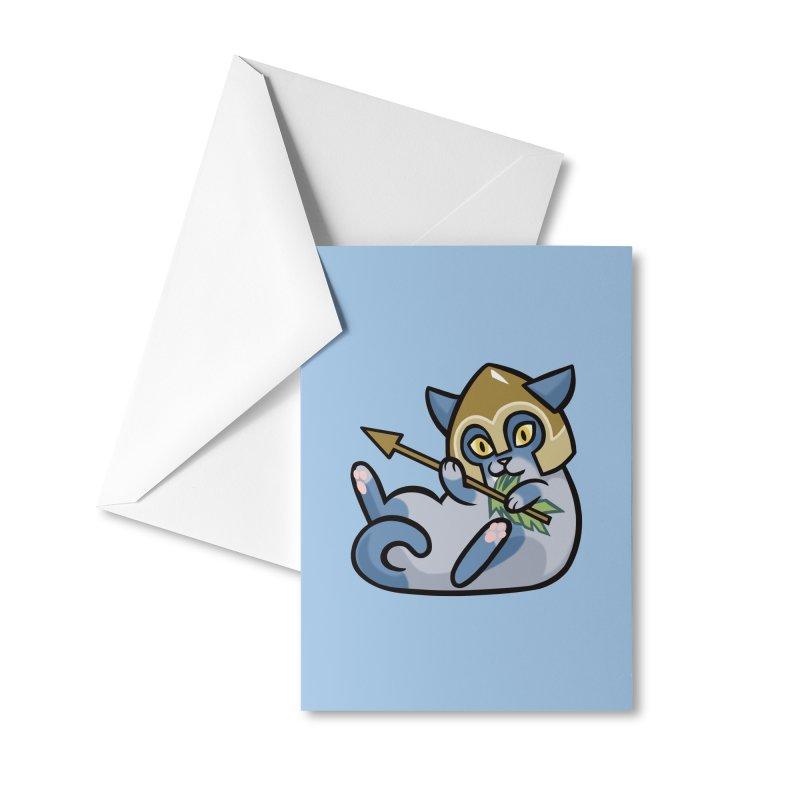 Arrow Cat Accessories Greeting Card by The Art of Mirana Reveier