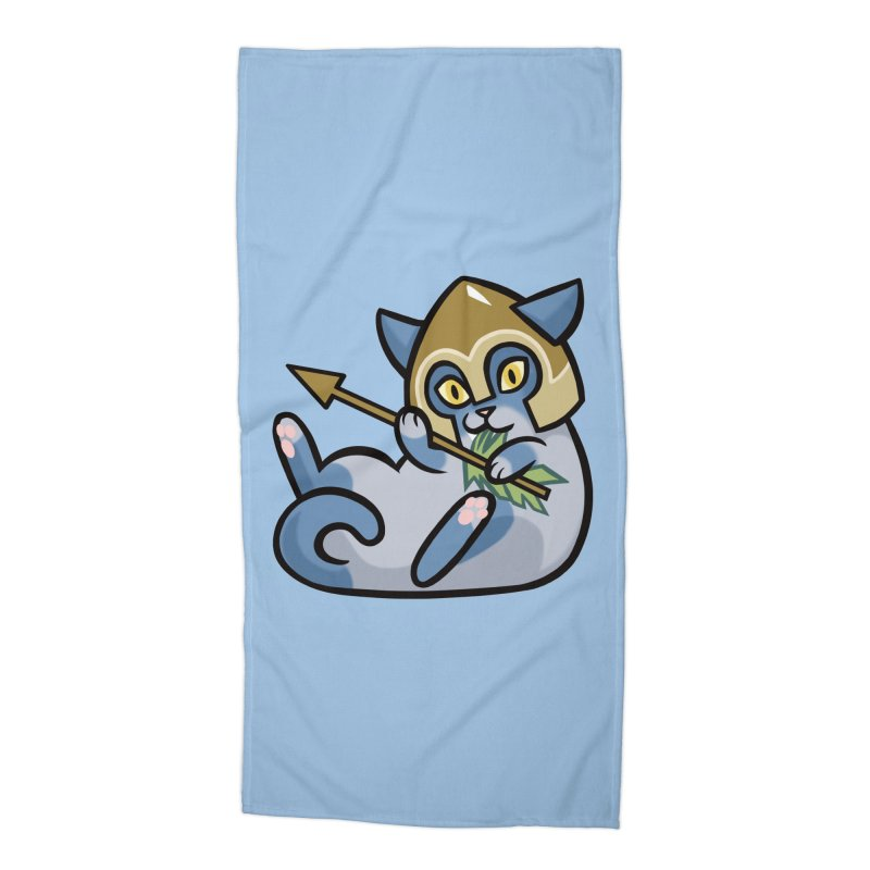 Arrow Cat Accessories Beach Towel by The Art of Mirana Reveier