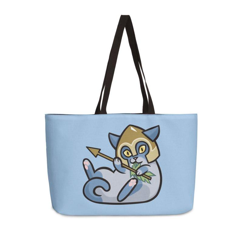 Arrow Cat Accessories Weekender Bag Bag by mirana's Artist Shop
