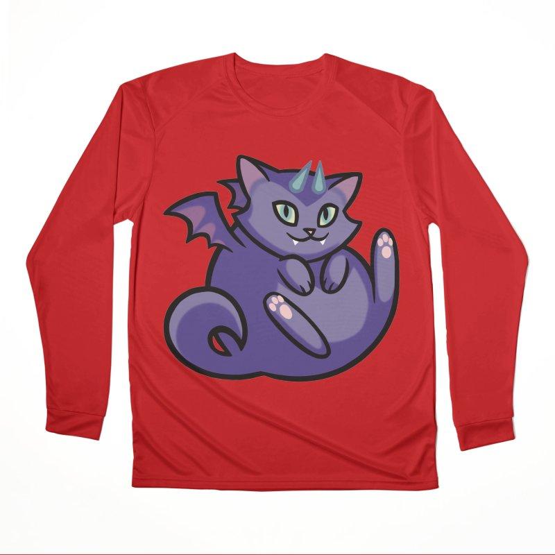 Demon Cat Men's Longsleeve T-Shirt by The Art of Mirana Reveier