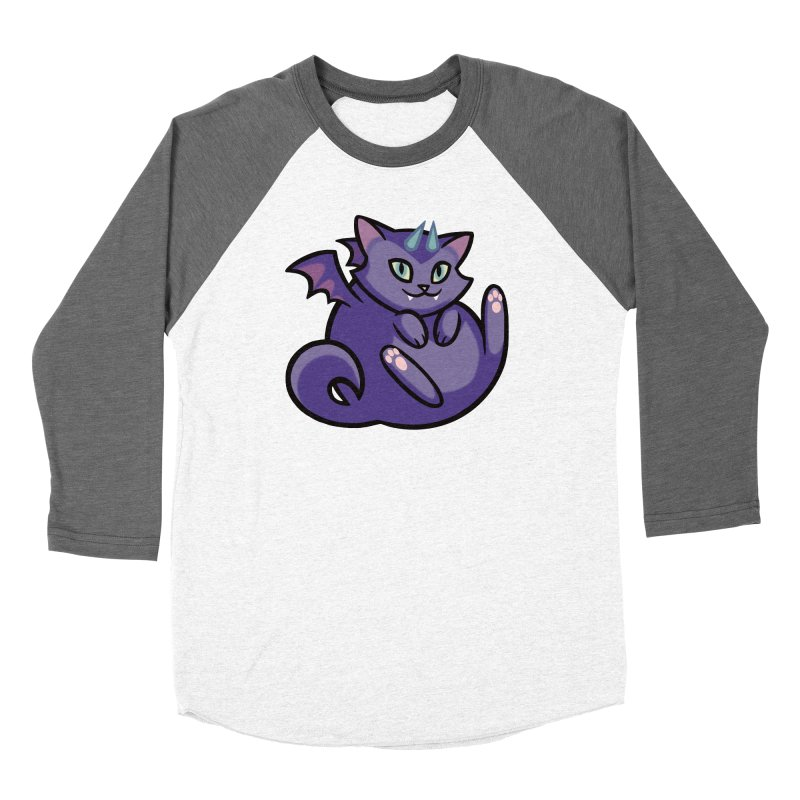 Demon Cat Women's Longsleeve T-Shirt by The Art of Mirana Reveier