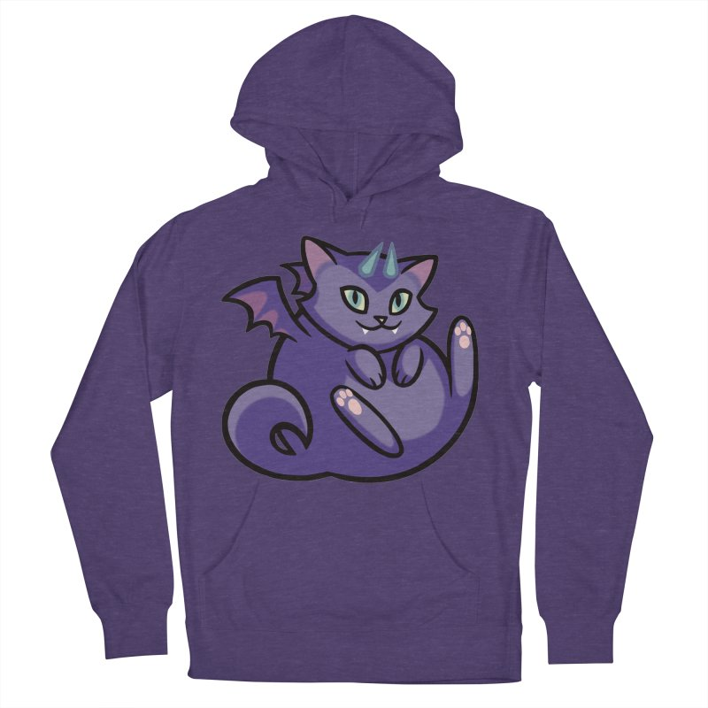 Demon Cat Men's French Terry Pullover Hoody by mirana's Artist Shop