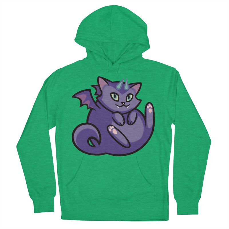 Demon Cat Men's Pullover Hoody by mirana's Artist Shop