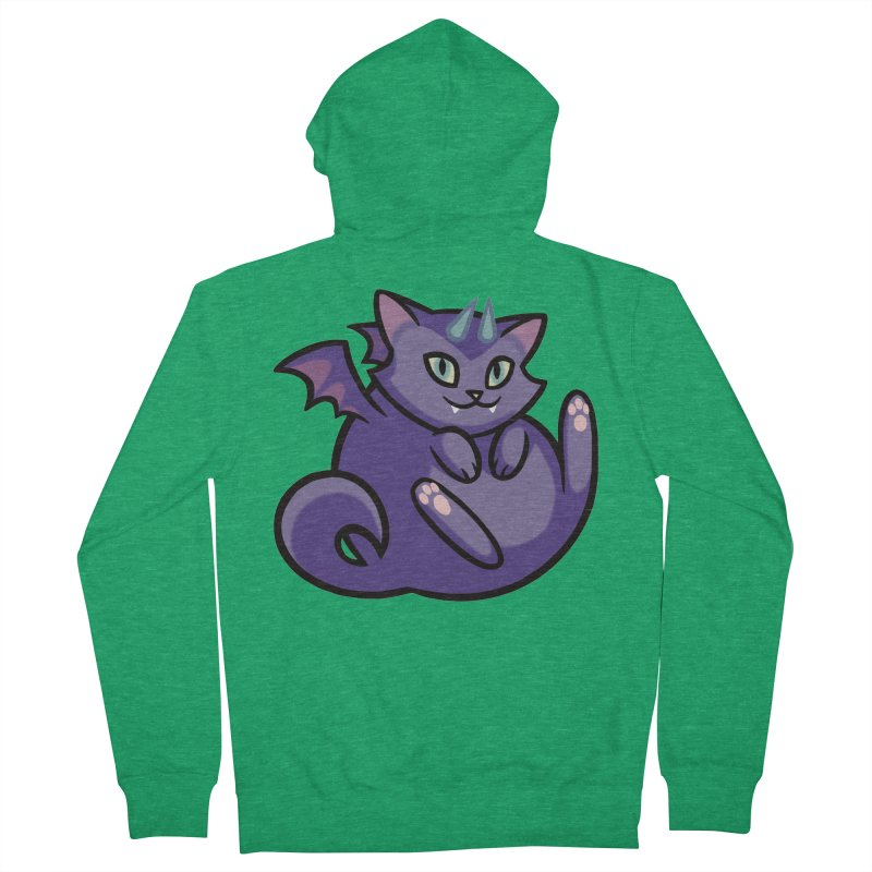 Demon Cat Women's Zip-Up Hoody by mirana's Artist Shop