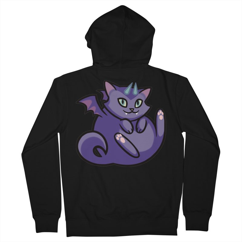 Demon Cat Women's French Terry Zip-Up Hoody by mirana's Artist Shop