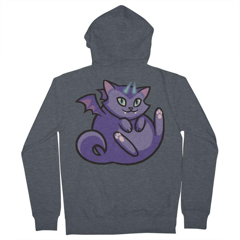 Demon Cat Men's French Terry Zip-Up Hoody by mirana's Artist Shop