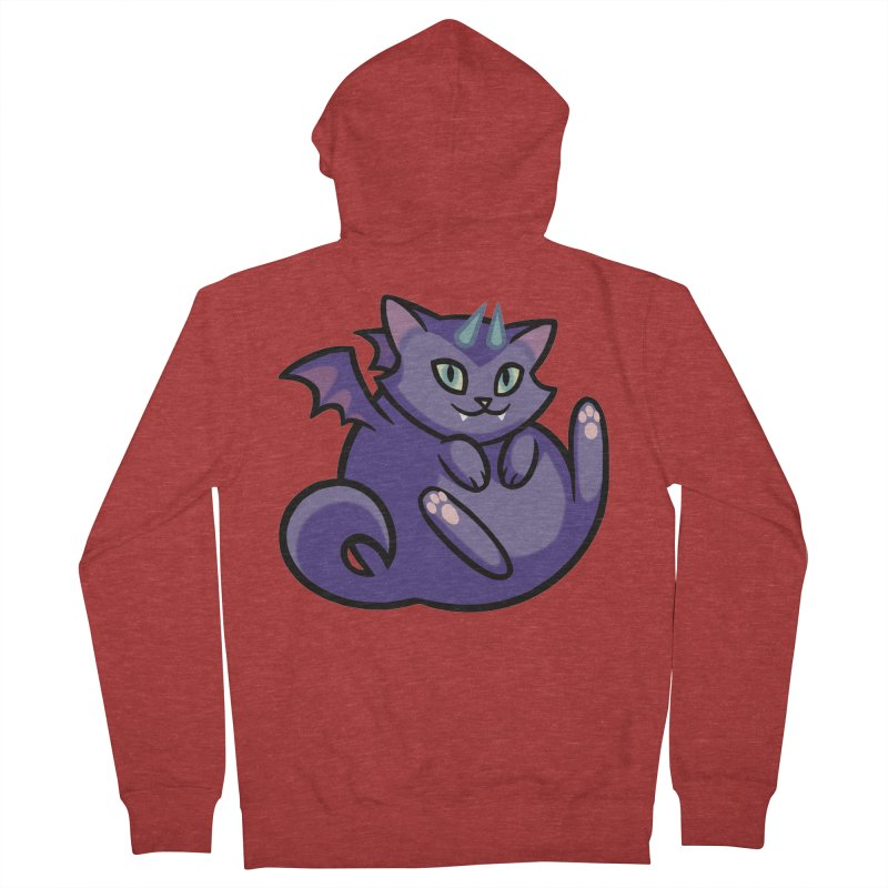 Demon Cat Men's French Terry Zip-Up Hoody by mirana's Artist Shop