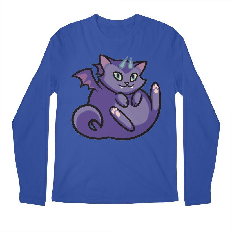Demon Cat Men's Regular Longsleeve T-Shirt by mirana's Artist Shop