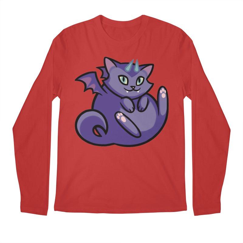 Demon Cat Men's Longsleeve T-Shirt by mirana's Artist Shop