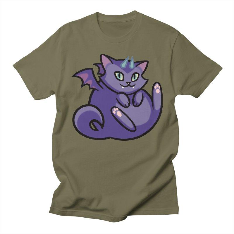 Demon Cat Men's Regular T-Shirt by mirana's Artist Shop