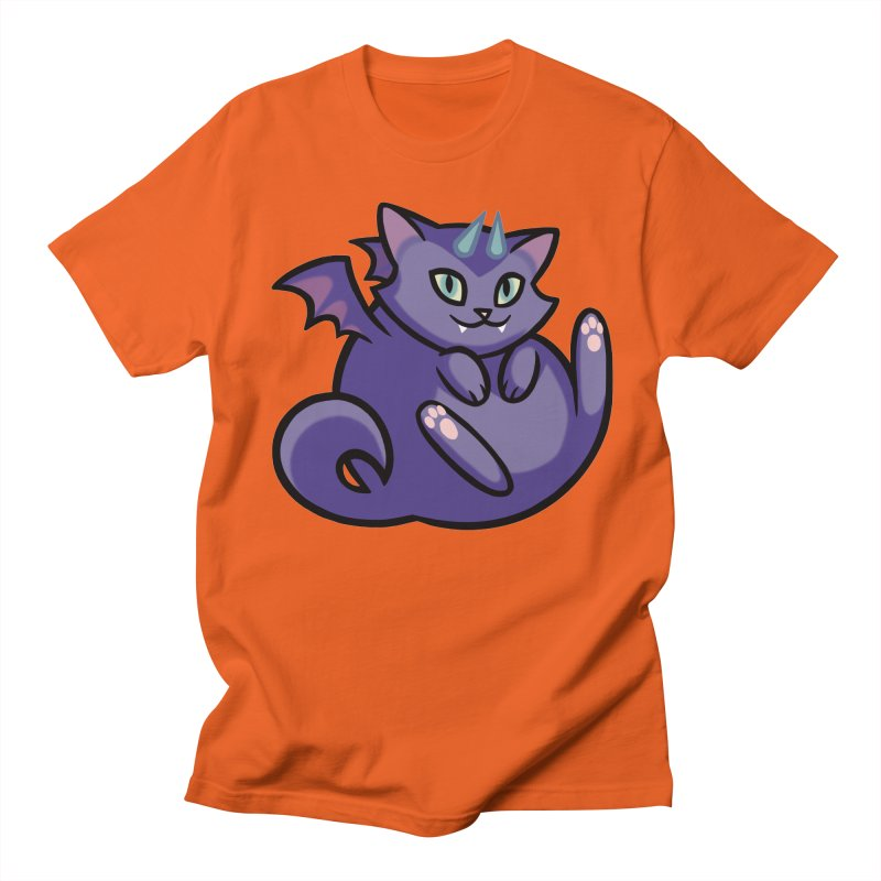 Demon Cat Men's T-Shirt by mirana's Artist Shop