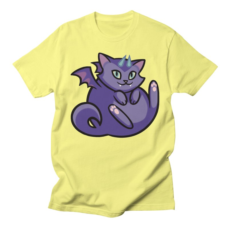 Demon Cat Men's Regular T-Shirt by mirana's Artist Shop