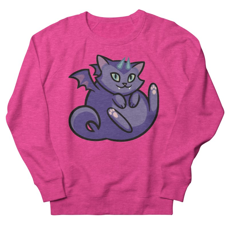 Demon Cat Women's Sweatshirt by mirana's Artist Shop