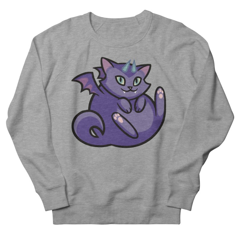 Demon Cat Men's French Terry Sweatshirt by mirana's Artist Shop