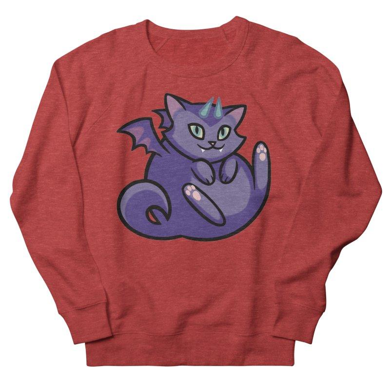 Demon Cat Men's French Terry Sweatshirt by mirana's Artist Shop