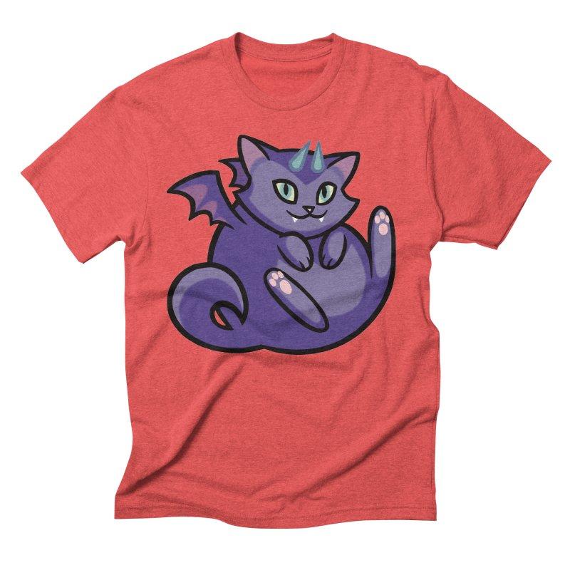 Demon Cat Men's Triblend T-Shirt by mirana's Artist Shop