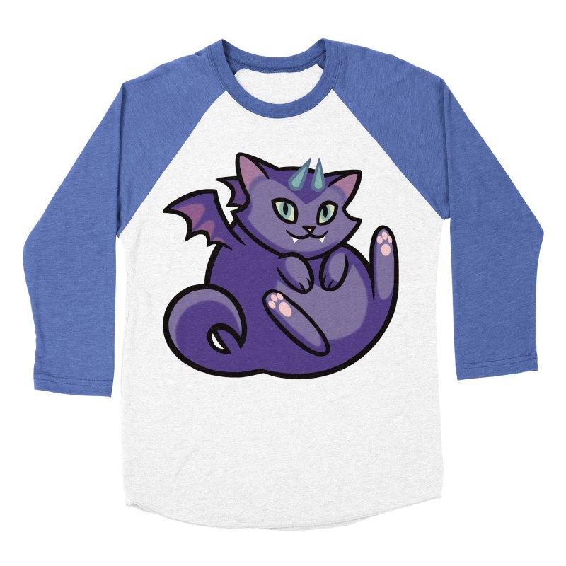 Demon Cat Women's Baseball Triblend Longsleeve T-Shirt by mirana's Artist Shop